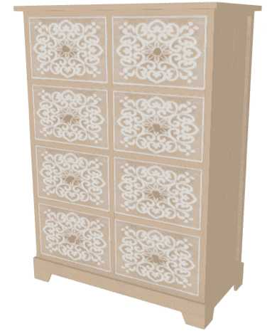 fancy design chest of drawers
